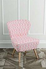 MY-Furniture DELILAH Retro Beistellsessel -Koral