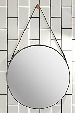 MY-Furniture DIPRE runder Wandspiegel aus Kupfer