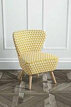 MY-Furniture gepolsterter Stuhl mit gelben Stoff - DELILAH