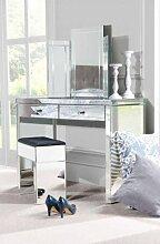 MY-Furniture venezianischer verspiegelter Nachttisch /Konsole &dreifach klappbarer Spiegel & Hocker