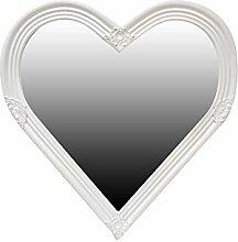 My Glam Home Herz Form Spiegel, beige/weiß P,