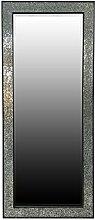 My Glam Home Rahmen Mosaik Spiegel, Silber/Schwarz