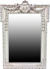 My Glam Home Rustic Spiegel, Antik Weiß P, Glas,