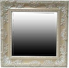 My Glam Home Spiegel, quadratisch, beige/weiß