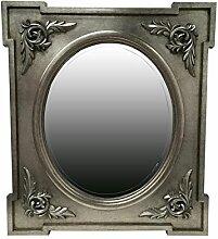 My Glam Home Wandspiegel, Antik Silber P, Glas,