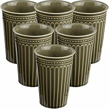 My-goodbuy24 6er Set XXL Kaffeebecher Set Keramik