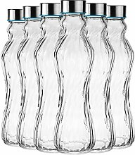 My-goodbuy24 6tlg. Glasflasche Set Trinkflasche