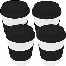 My-goodbuy24 Coffee-to-Go-Becher 4er Set