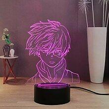 My Hero Academia 3D Nachtlicht für Kinder, Deku