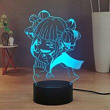 My Hero Academia Himiko Toga 3D Anime Night Light,