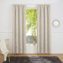 my home Gardine Blackout Curtain With Foil Print