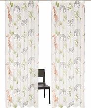 my home Gardine Zoo, Vorhang, Fertiggardine,