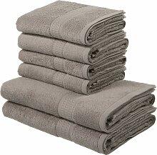 my home Handtuch Set Juna, mit feiner