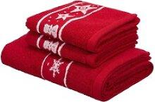 my home Handtuch Set Weihnachten (Set, 3-tlg), mit