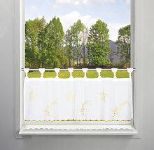 my home Scheibengardine Sterne 45 cm, Schlaufen,