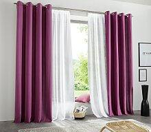 my home Vorhang Raja, blickdicht 145 cm, Ösen,