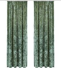 my home Vorhang Velvet, Samt Uni 145 cm,