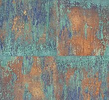 My Life 10510-20 Vierecktapete in Wandfarbe blau