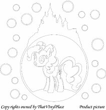 My Little Pony-Sticker, bubble Schloss, 60 cm x 57