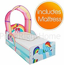 My Little Pony Toddler Bed with Storage + Deluxe Foam Mattress