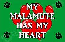 My Malamute Hat My Heart Hund Puppy Kühlschrankmagnet Geschenk/Geschenk