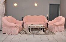 My Palace Stretch Sofabezüge 1er+2er+3er in rosa