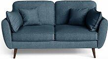 My Pop Design   2-Sitzer Auteuil Sofa blau Leinen
