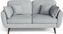 My Pop Design | 2-Sitzer Auteuil Sofa grau Leinen