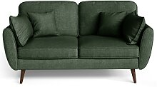 My Pop Design | 2-Sitzer Auteuil Sofa grün Leinen