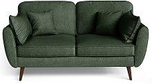 My Pop Design   2-Sitzer Auteuil Sofa grün Leinen