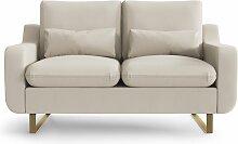 My Pop Design   2-Sitzer-Sofa Monceau beige Leinen