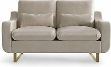My Pop Design   2-Sitzer-Sofa Monceau beige Samt