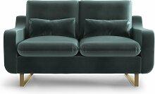 My Pop Design | 2-Sitzer-Sofa Monceau blau Samt