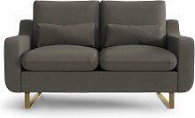 My Pop Design | 2-Sitzer-Sofa Monceau braun Leinen