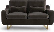 My Pop Design | 2-Sitzer-Sofa Monceau braun Samt