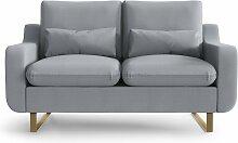 My Pop Design | 2-Sitzer-Sofa Monceau grau Leinen