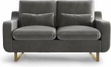 My Pop Design | 2-Sitzer-Sofa Monceau grau Samt