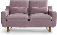My Pop Design | 2-Sitzer-Sofa Monceau violett Samt