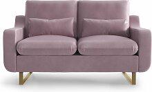 My Pop Design   2-Sitzer-Sofa Monceau violett Samt