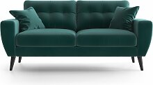 My Pop Design   Gallieni Noir 2-Sitzer-Sofa blau
