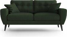 My Pop Design | Gallieni Noir 2-Sitzer-Sofa grün