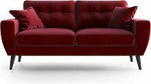 My Pop Design   Gallieni Noir 2-Sitzer-Sofa rot