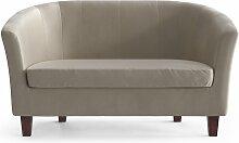 My Pop Design   Picpus 2-Sitzer-Sofa beige Samt