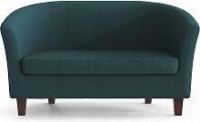 My Pop Design | Picpus 2-Sitzer-Sofa blau Leinen