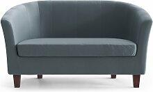 My Pop Design | Picpus 2-Sitzer-Sofa blau Samt