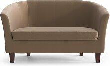 My Pop Design   Picpus 2-Sitzer-Sofa braun Samt