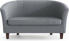 My Pop Design   Picpus 2-Sitzer-Sofa grau Leinen