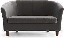 My Pop Design | Picpus 2-Sitzer-Sofa grau Samt