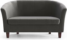 My Pop Design   Picpus 2-Sitzer-Sofa grau Samt