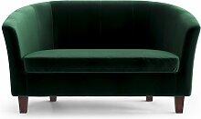 My Pop Design | Picpus 2-Sitzer-Sofa grün Samt